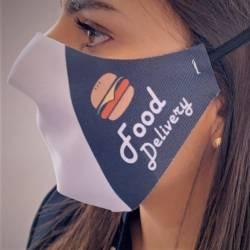 masque livraison fast food noir