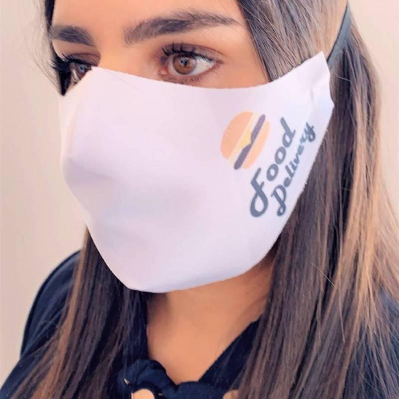 masque burger blanc de protection