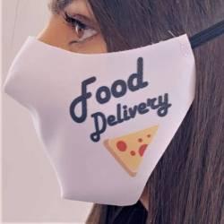 masque livraison pizzeria blanc