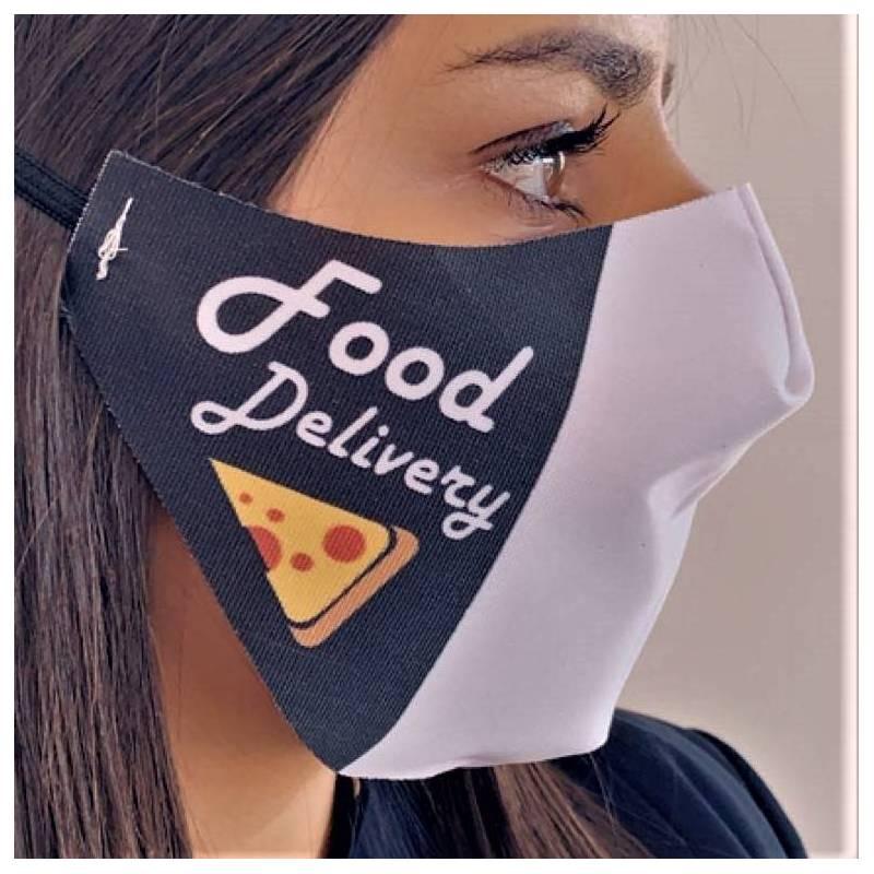 masque livraison pizzeria noir