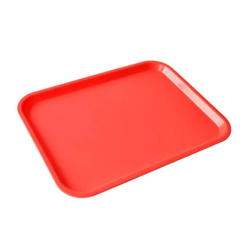 petit plateau service rouge