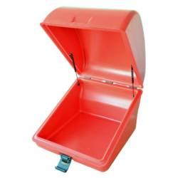 top case rouge ouvert