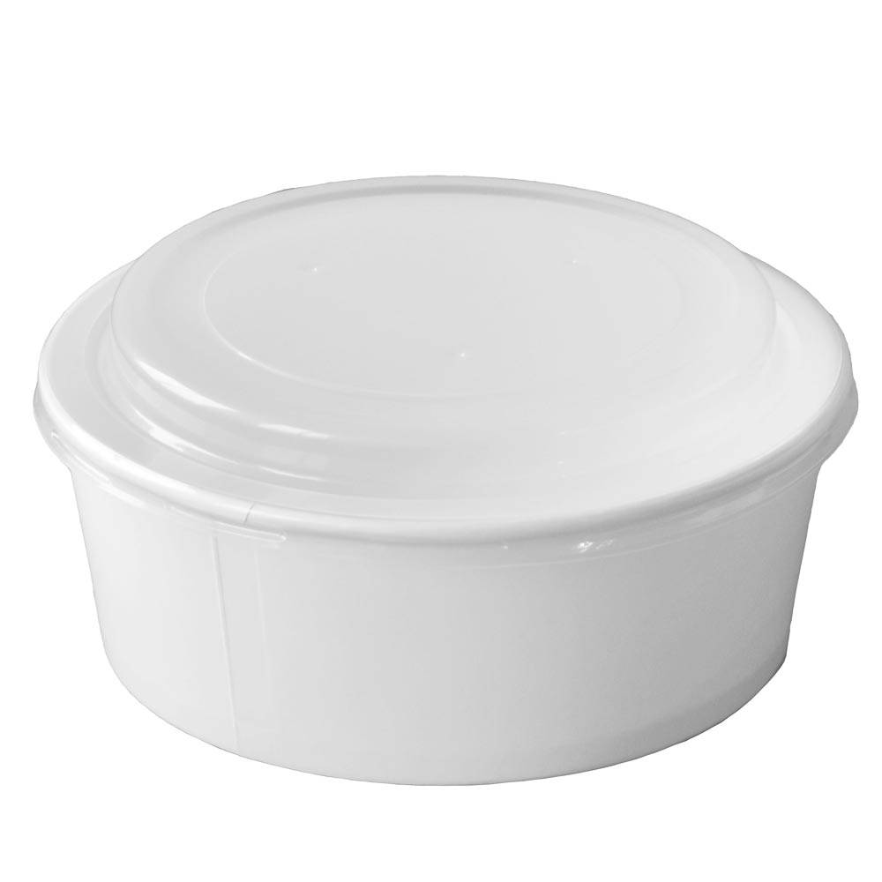 grand saladier carton blanc avec couvercle