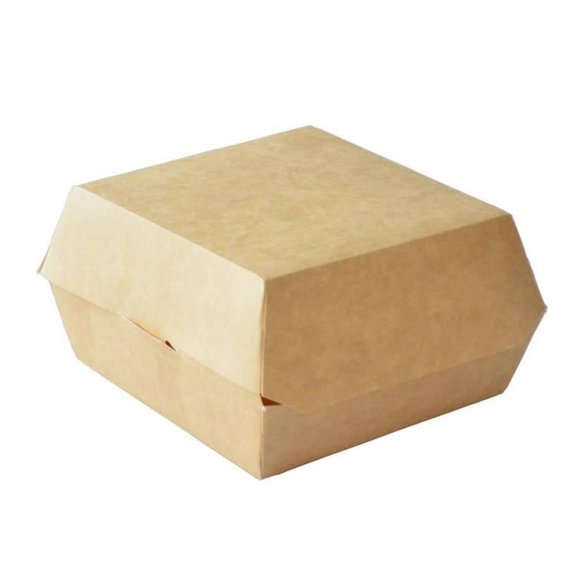 boite burger kraft recyclable 14cm fermee