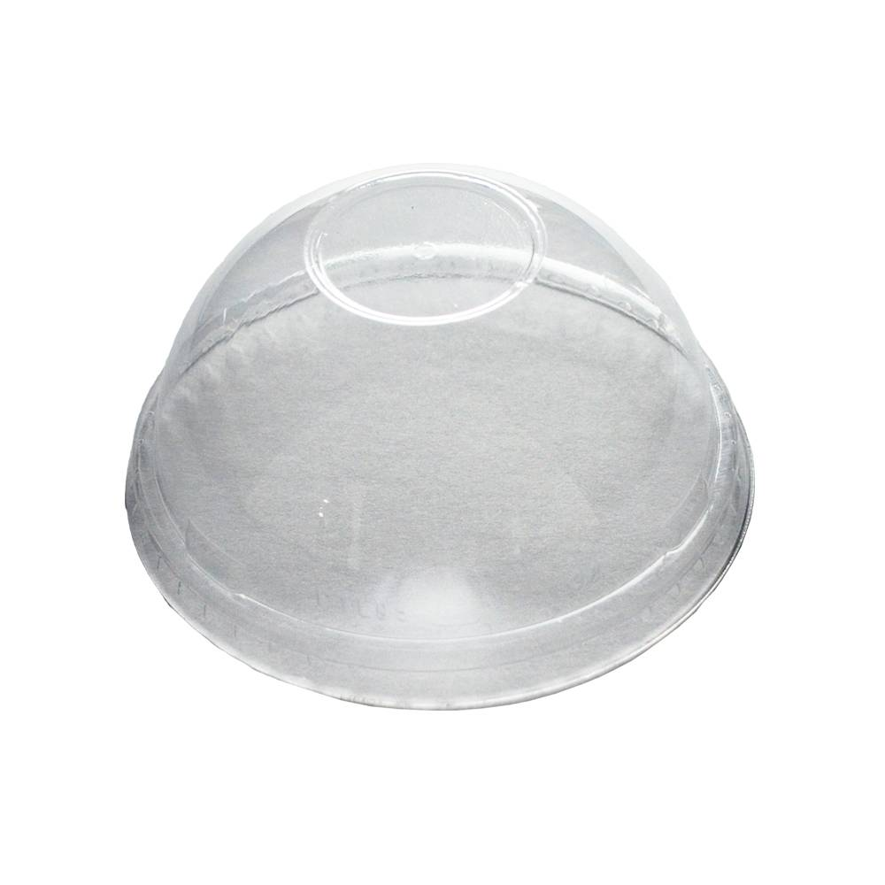 Couvercle gobelet plastique dome glace smoothie paille glacier restaurant