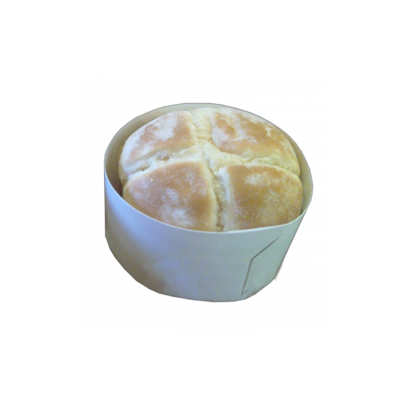 Cercle à burger en kraft blanc - 34cm