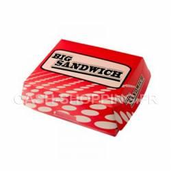 Boite big sandwich - rouge - 18.5 cm