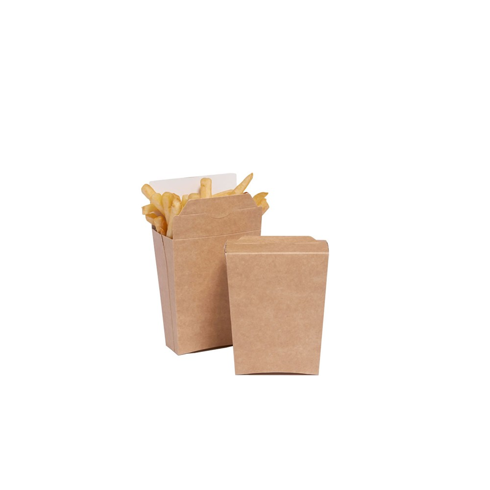 Boite Refermable Frites - Kraft - Small 8 cm