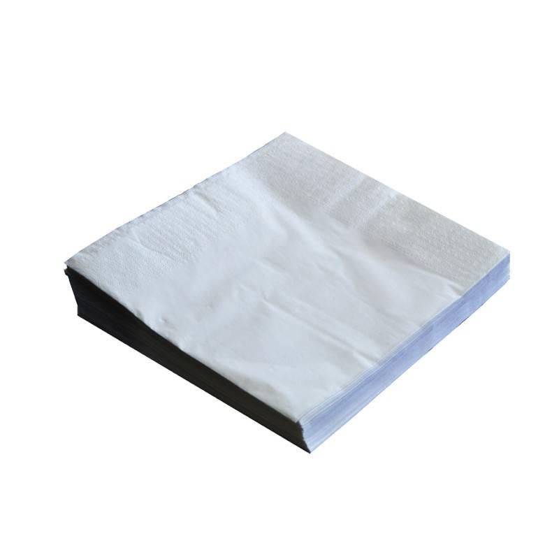 Serviette en papier blanche ouate recycable compostable restauration