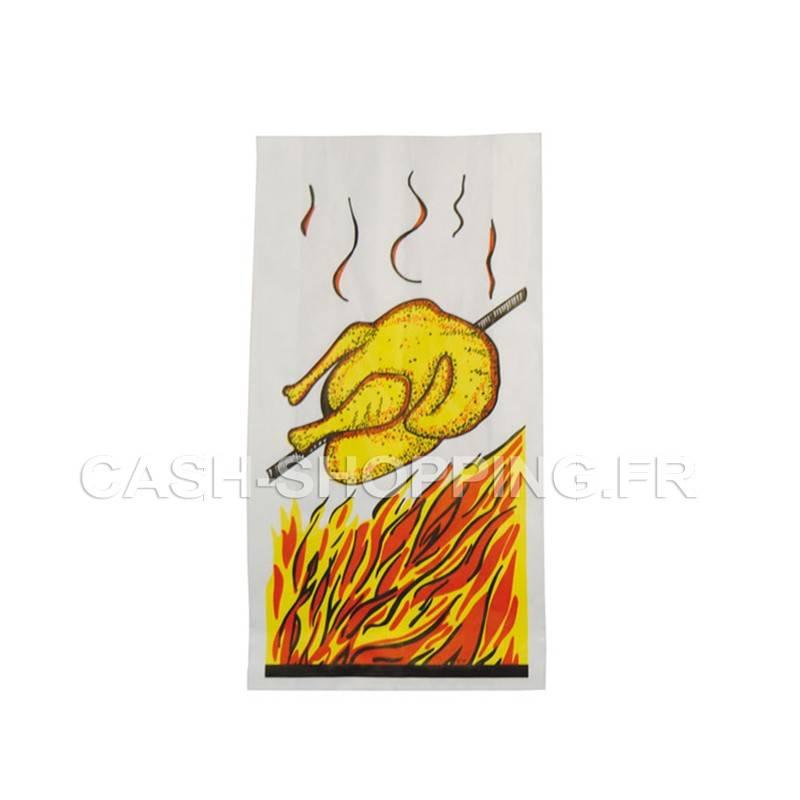 Sac  poulet, visuel flamme papier