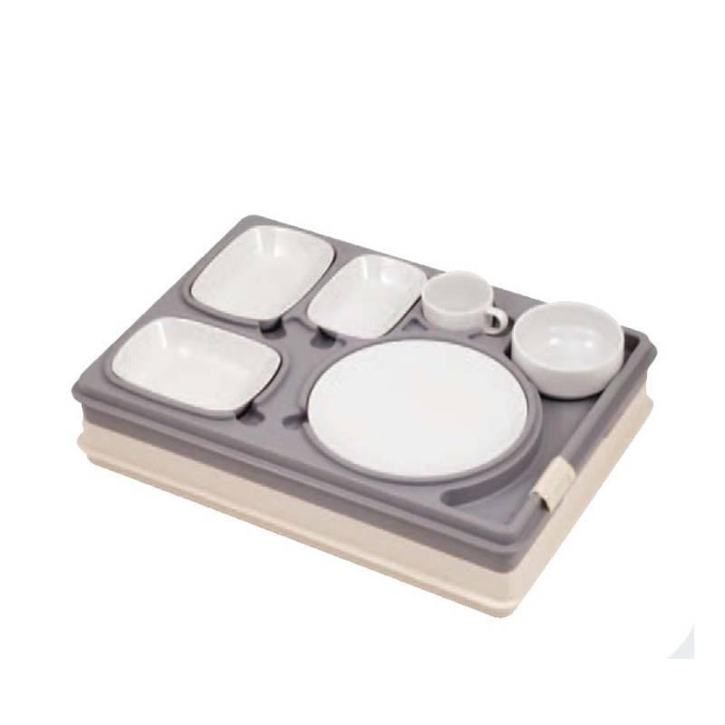 plateau repas isotherme livraison transport 6 compartiments