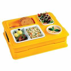 plateau repas isotherme livraison transport 4 compartiments