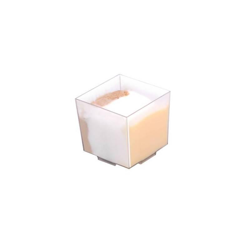 verrine cube plastique transparent materiel reutilisable traiteur restaurant patissier boulanger glacier