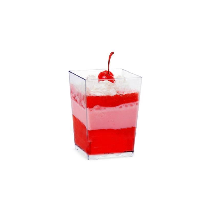 verrine carree carré rectangle transparente reutilisable traiteur