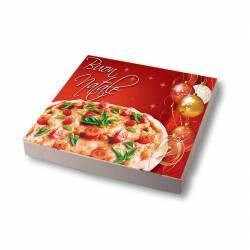Boite plaque à pizza Noel
