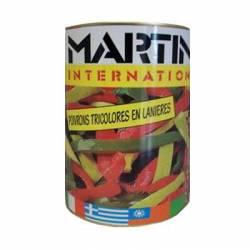Poivrons Tricolores Pre-Cuits pizza - 5 kg - Boite 5/1