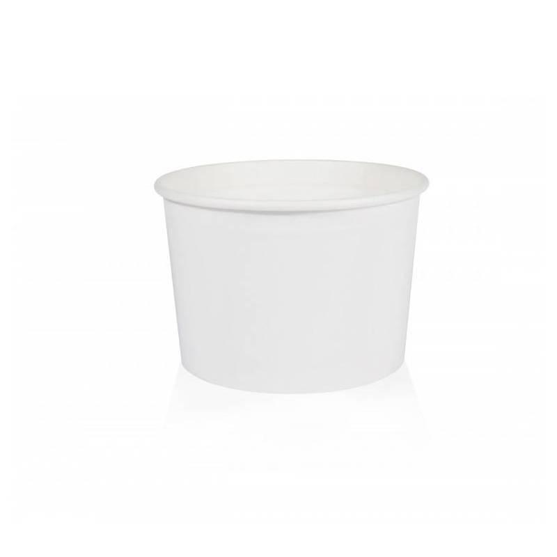 pot a glace Carton Blanc ecologique recyclable