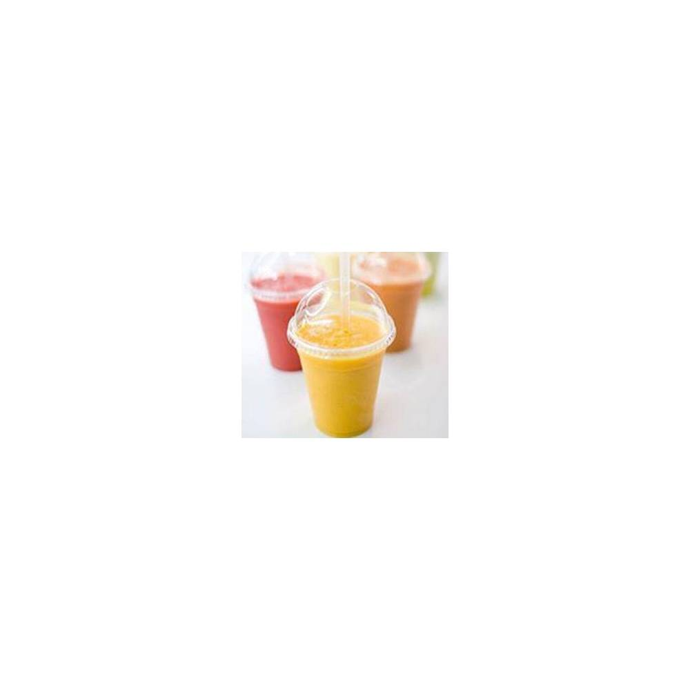 Couvercle gobelet plastique dome smoothie granite jus